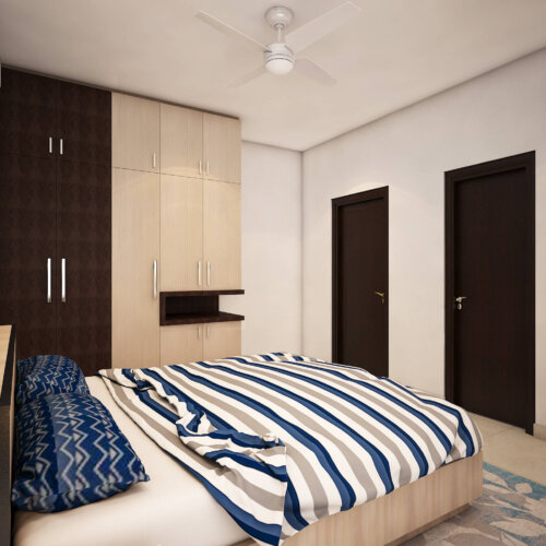 Modular Wardrobe design for a home interiors project done in Brigade Lakefront